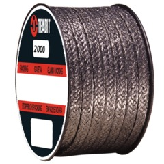 Style 2000/I Braided packing made from pure, flexible mineral graphite, reinforced with thin metal wires